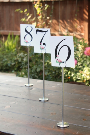 "12"" tall, silver Table Number Stands - $2/ea Quantity of 14 available   MORE DETAILS & PICS..."