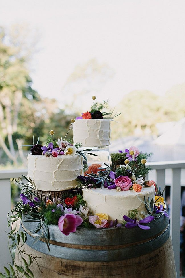 Wedding Wine Barrel Cake Display