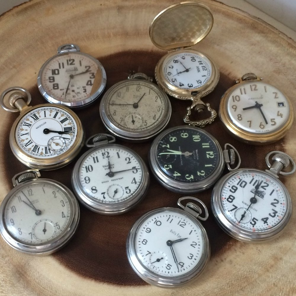 Gold & Silver Pocket Watches - $5/ea    MORE DETAILS & PICS...