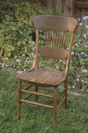 Wood Spindle Back Chair   RENT FOR $15  MORE DETAILS & PICS...