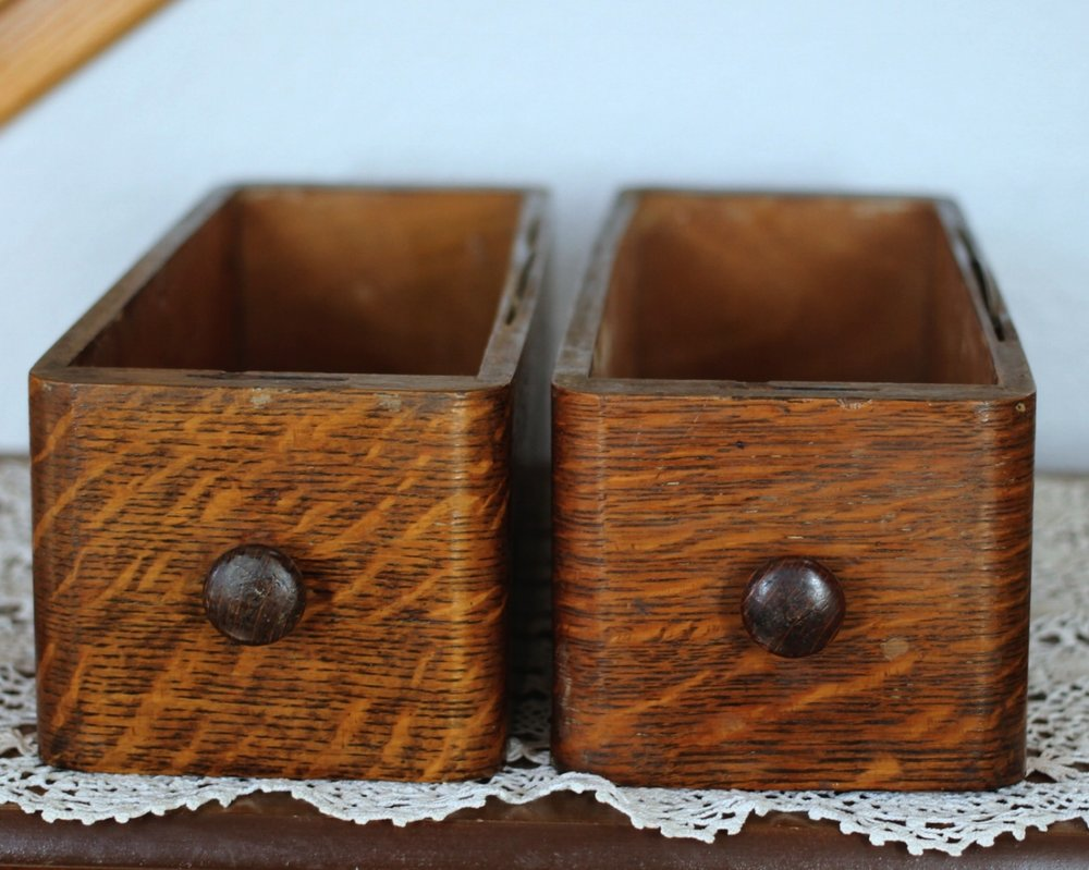 TIGER MAPLE SEWING MACHINE DRAWERS $10 EACH