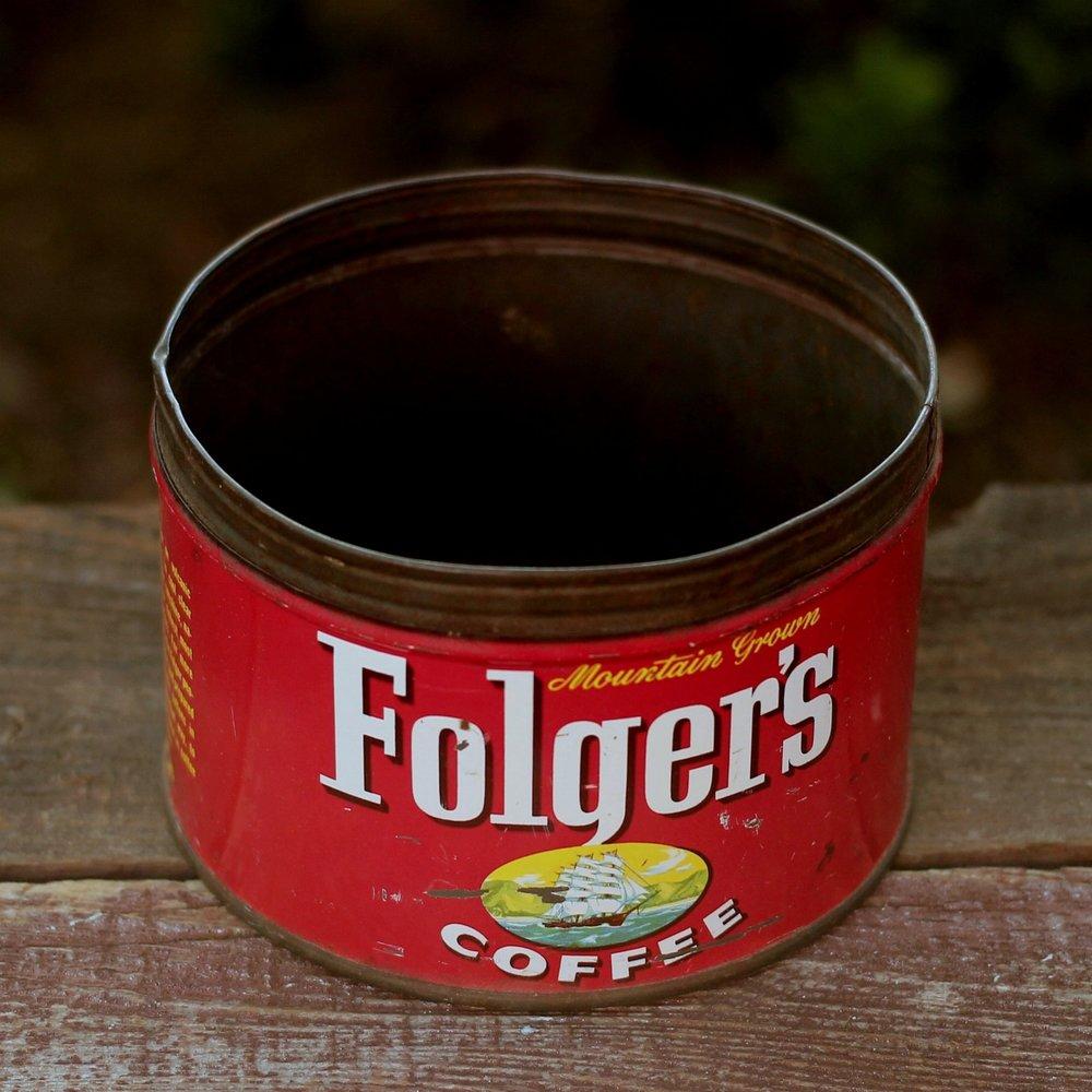 Vintage Coffee Tin - Folger's