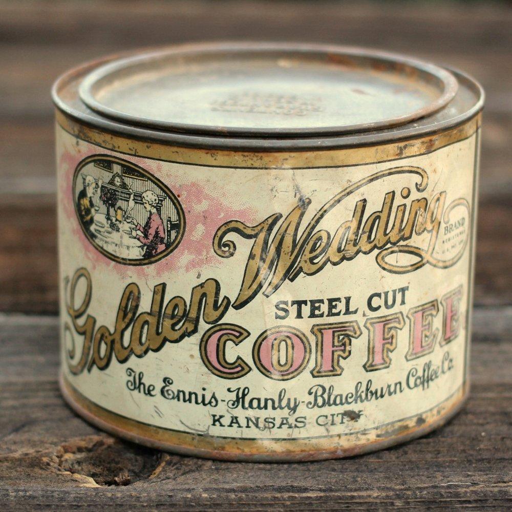 Vintage Coffee Tin - Golden Wedding Coffee Co.