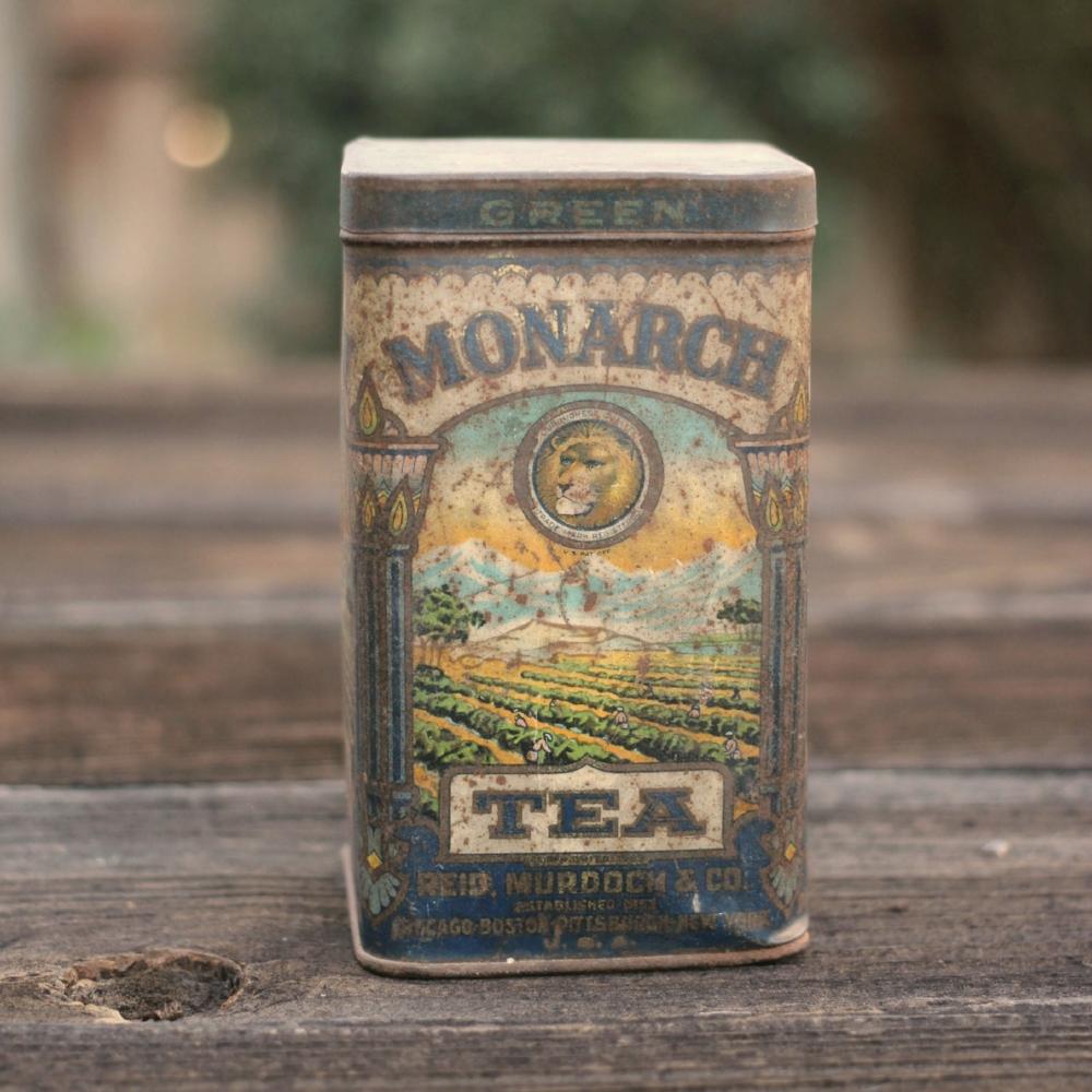 Vintage Tea Tin - Monarch