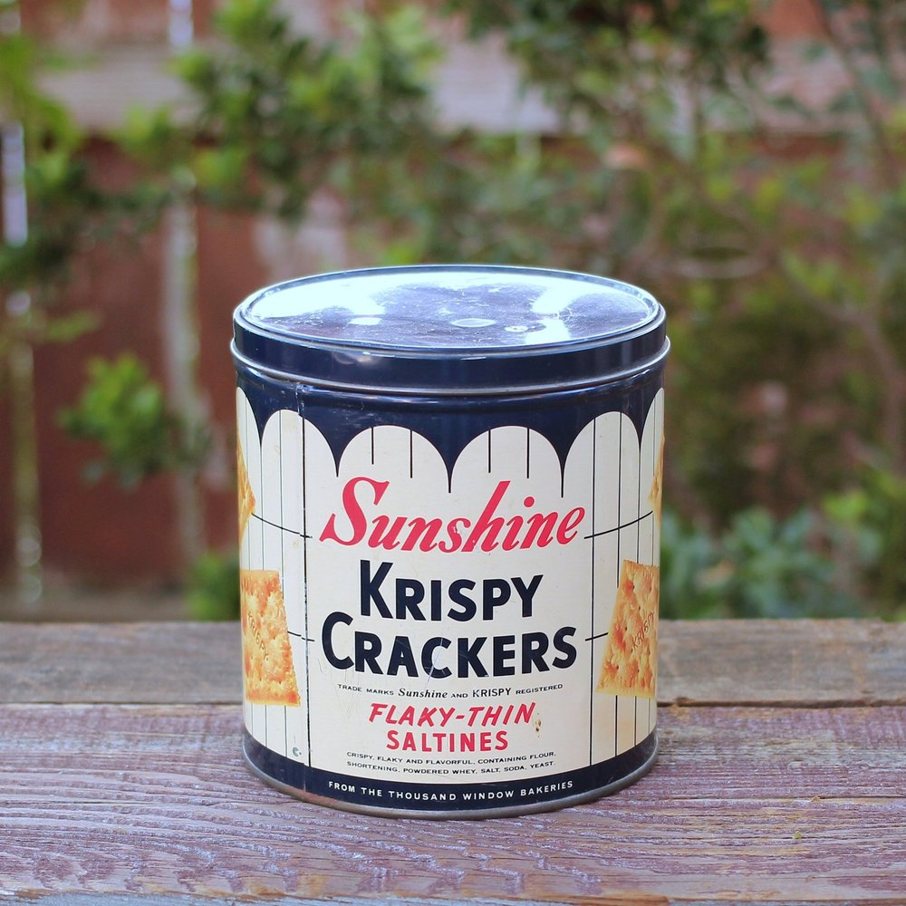 Vintage Krispy Cracker Tin