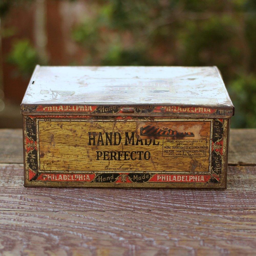 Vintage Tin Cigar  Box