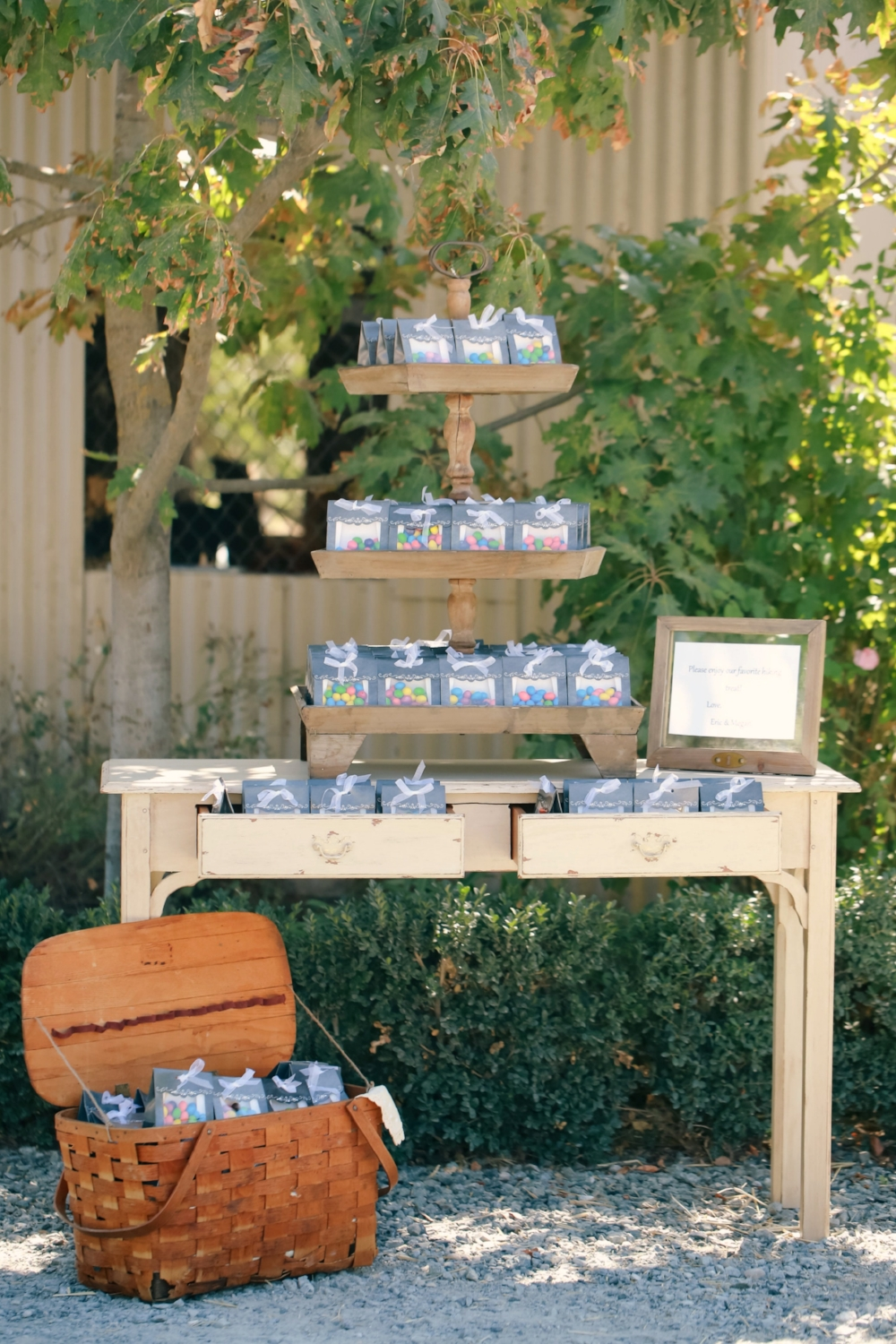 Rustic Vintage Wedding Favors Table