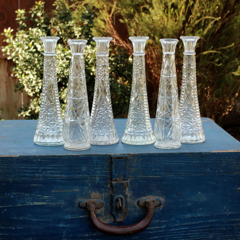 Vintage Glass Bud Vases