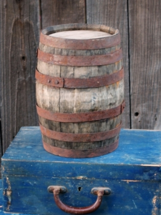 "8""X 13"" MINI WHISKEY BARREL - $15"