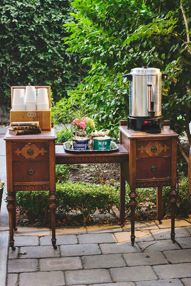 McHenry Mansion Wedding Coffee Bar