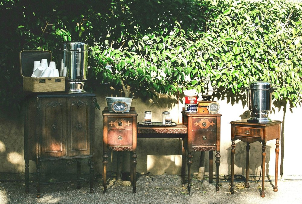 Pageo Lavender Farm Vintage Wedding Coffee Bar