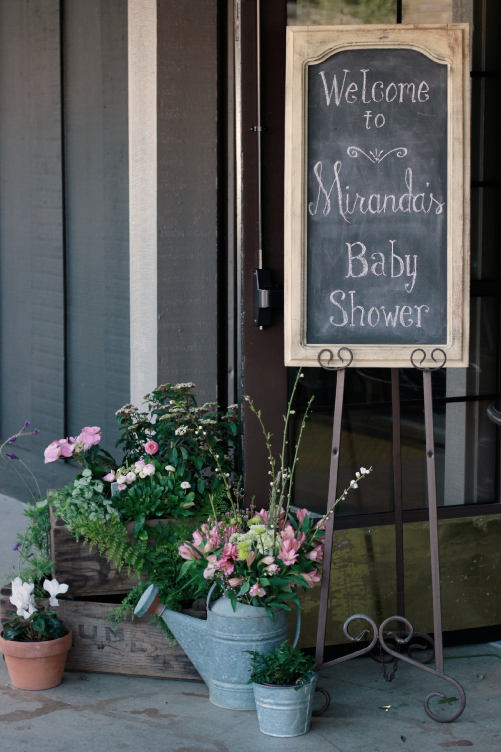 Vintage Baby Shower Welcome Sign