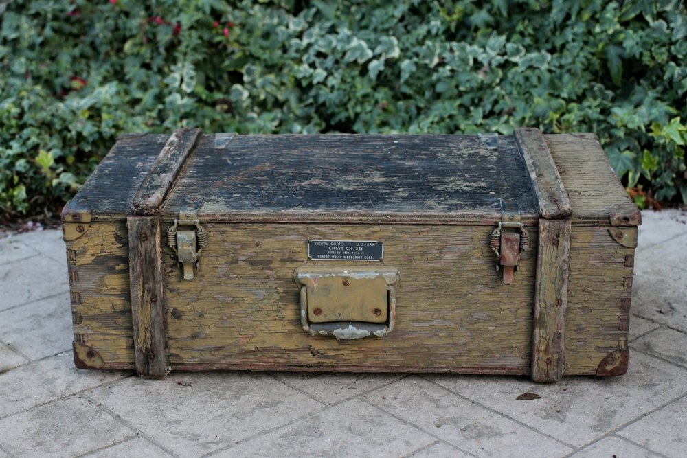 Vintage Army Signal Corps Chest