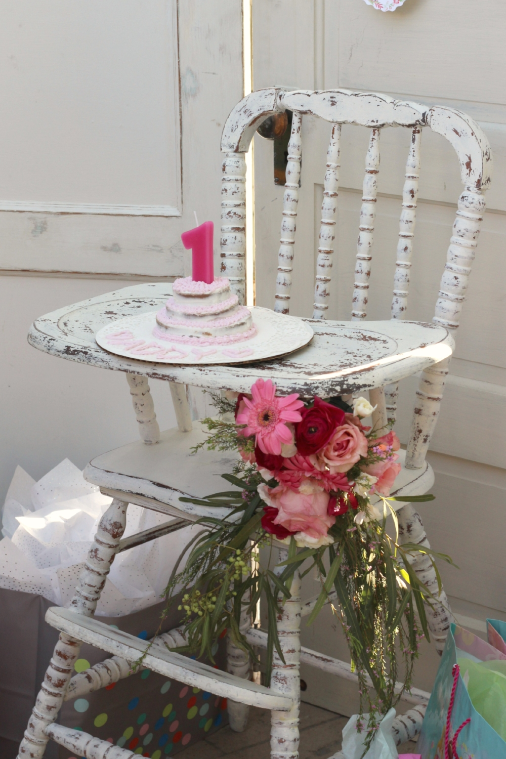 Vintage Baby's First Birthday High Chair
