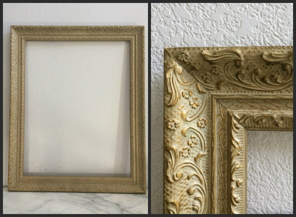 "LARGE - GOLD GARDEN FLORAL - 22"" x 28"" x 2.5"" - $15"