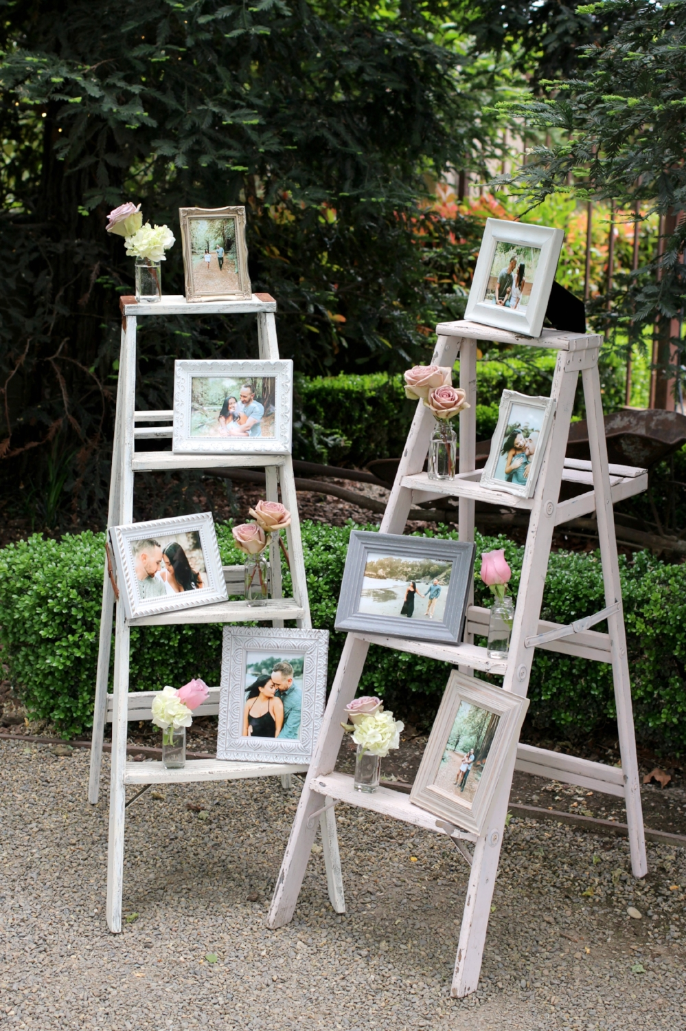 Pageo Farm Wedding - Photo Ladder Display