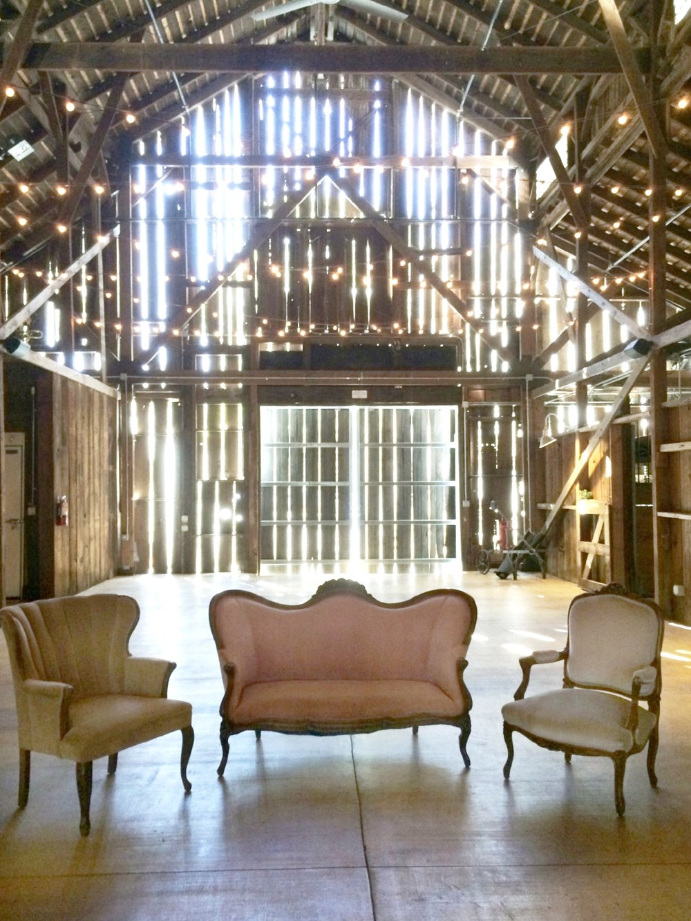 Oak Farm Vineyards Lodi barn wedding rustic vintage rentals