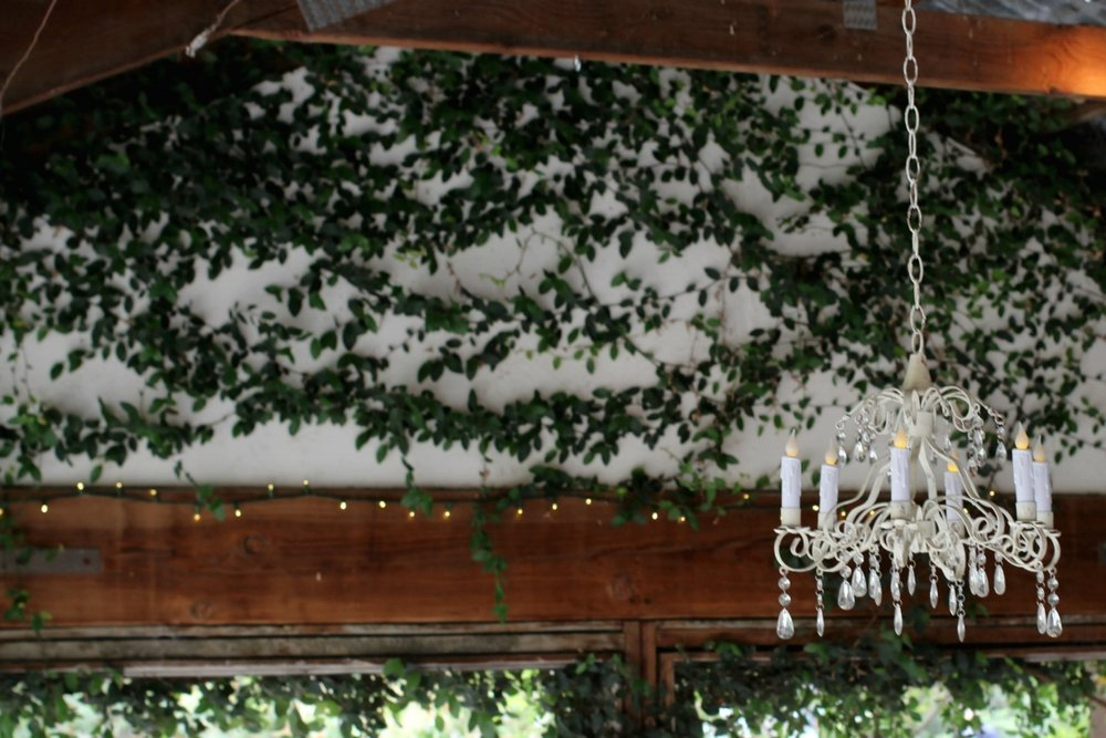 Pageo Farm Wedding - Chandelier