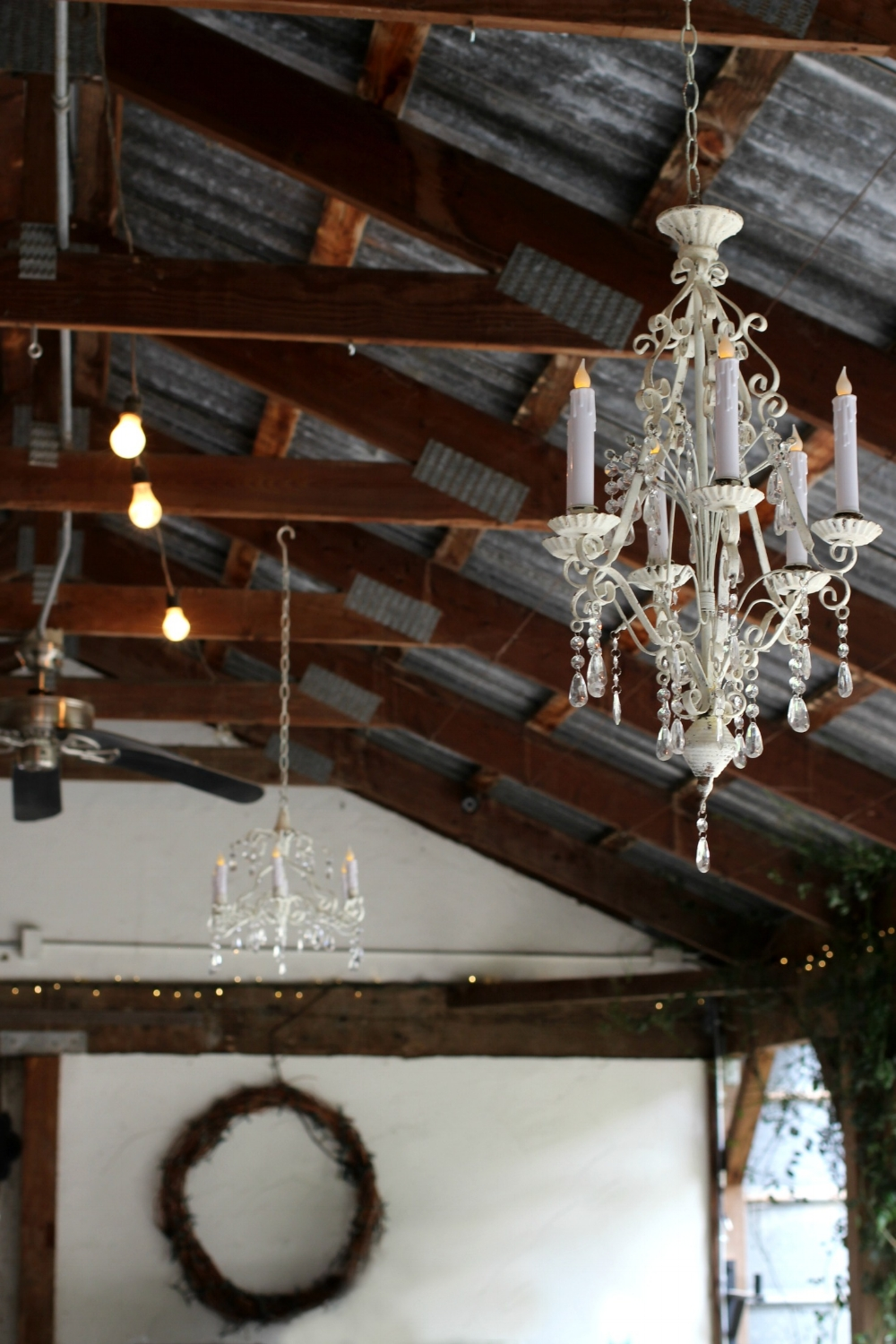 Pageo Farm Wedding - Vintage Chandelier