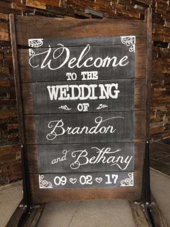 """""""Welcome"""" Sign for Brandon & Bethany"""