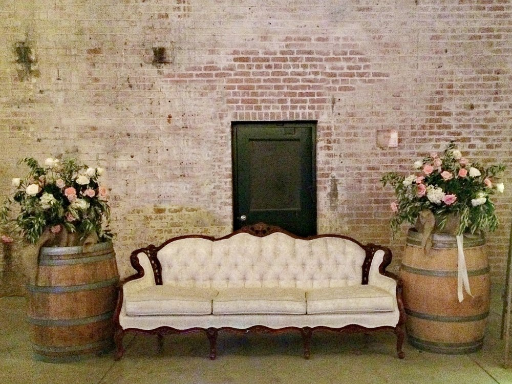 The Old Sugar Mill Wedding - Vintage Lounge Area
