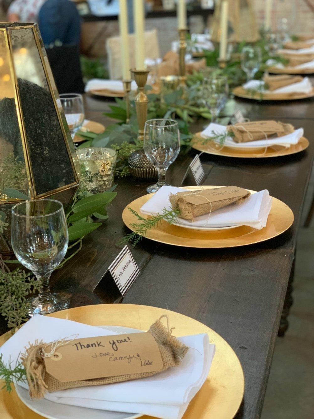 Wedding Farm Table Rentals - Manteca