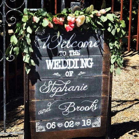 Stephanie & Brooks Wedding Sign