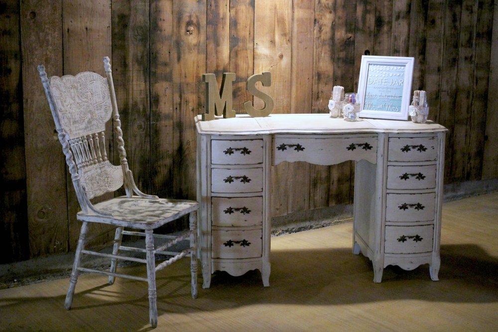 Oak Farm Vineyard Wedding - Vintage Desk