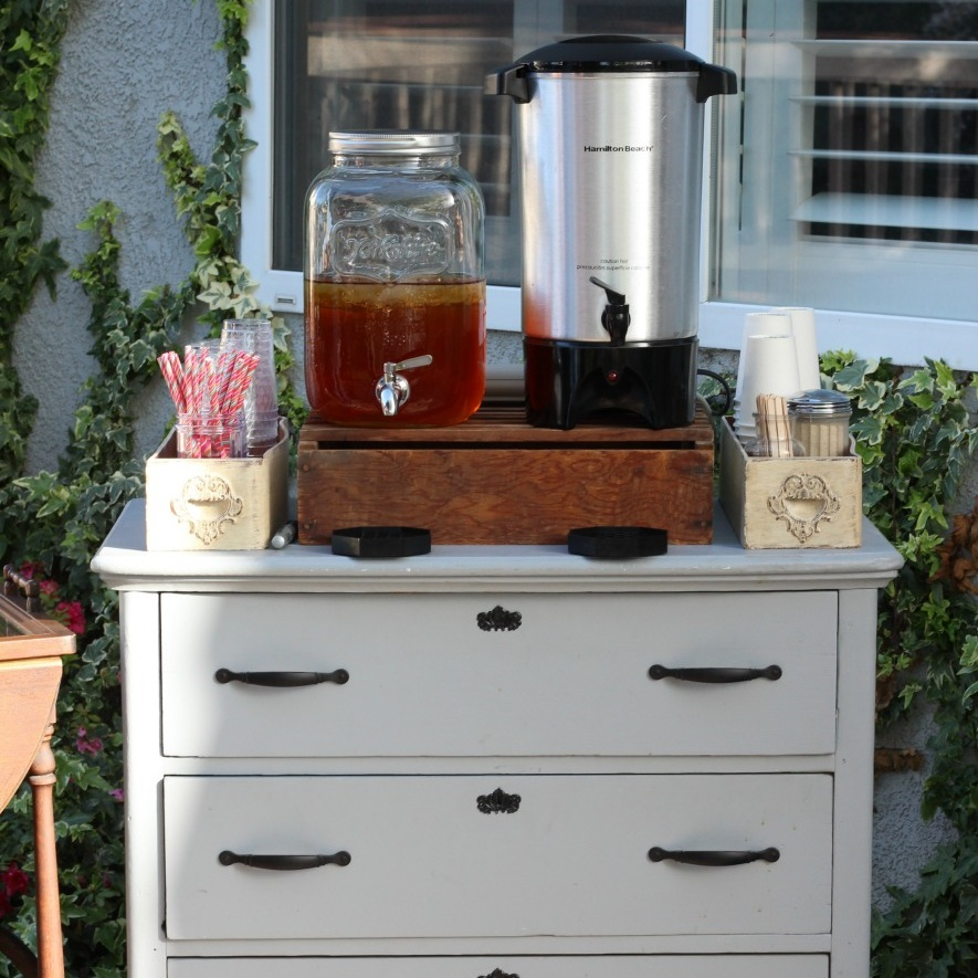 Vintage Dresser Drink Bar - Coffee Bar