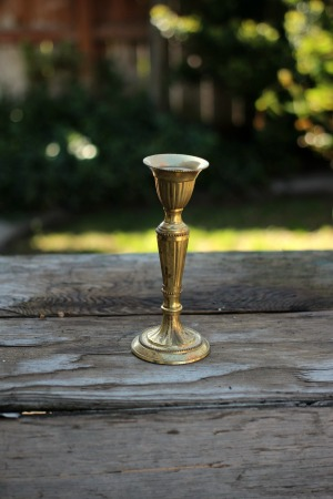 """""""Eliora"""" - Brass Taper Candlestick   RENT FOR $5"""