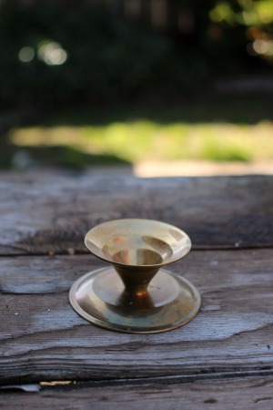 """""""Faroukh"""" - 3-1/2"""" tall - Brass Taper Candlestick Qty Available - 1   RENT FOR $5"""