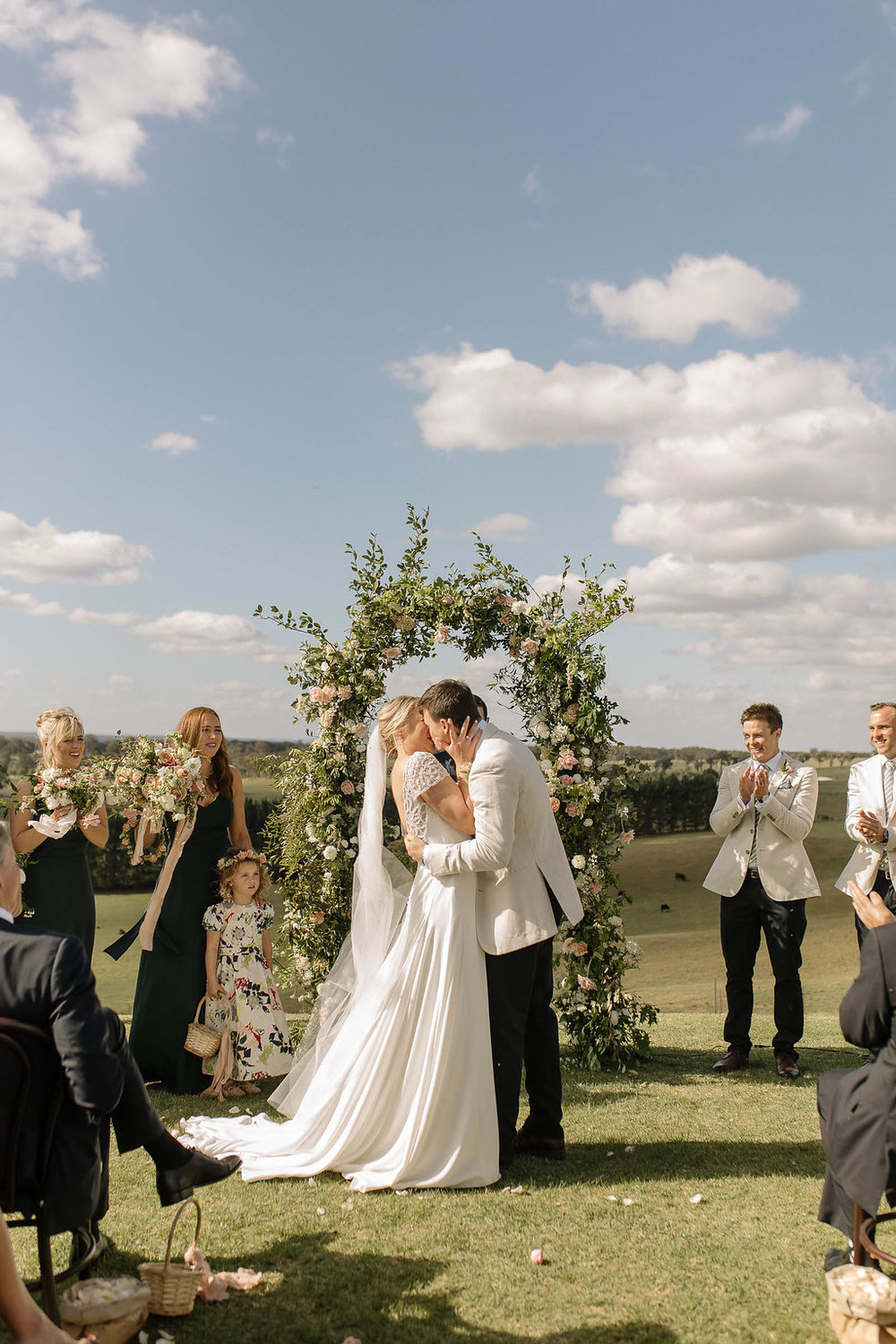 Bride and Groom, southern highalands wedding : floral arch : sydney florist and event designer .JPG