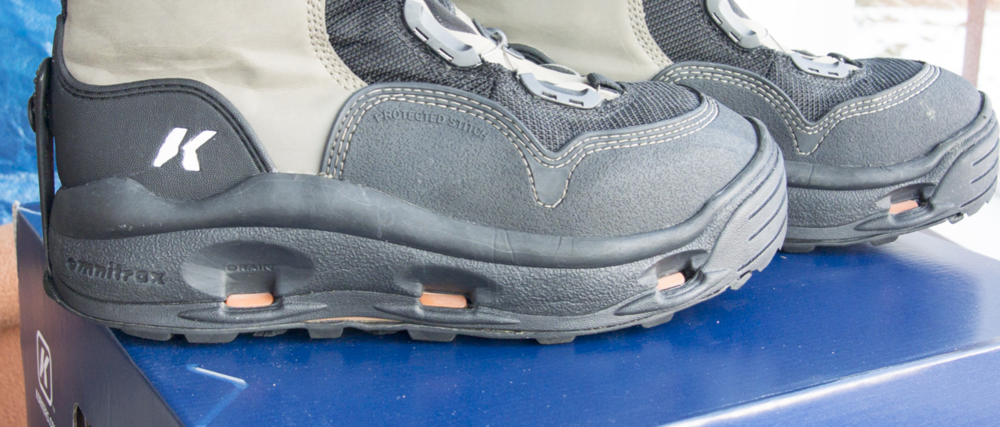 New for 2014 the drain holes along the bottom of the boot are larger to reduce drag as you trek in and out of the water.