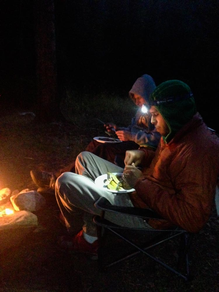 Montana surf and turf - catch and release trout followed by a nice charred steak around the campfire.