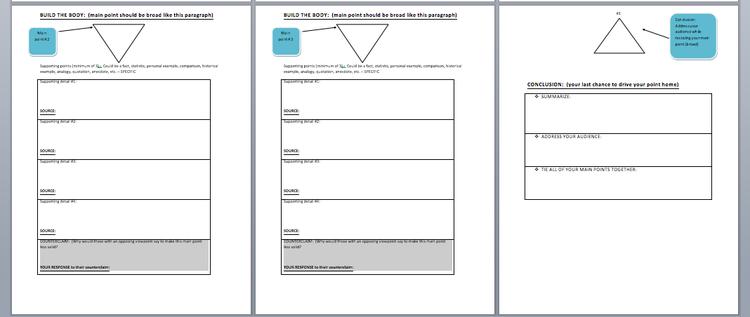 How to do argumentation essay