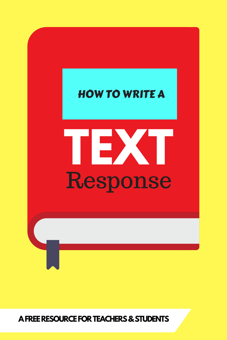 text response essay structure