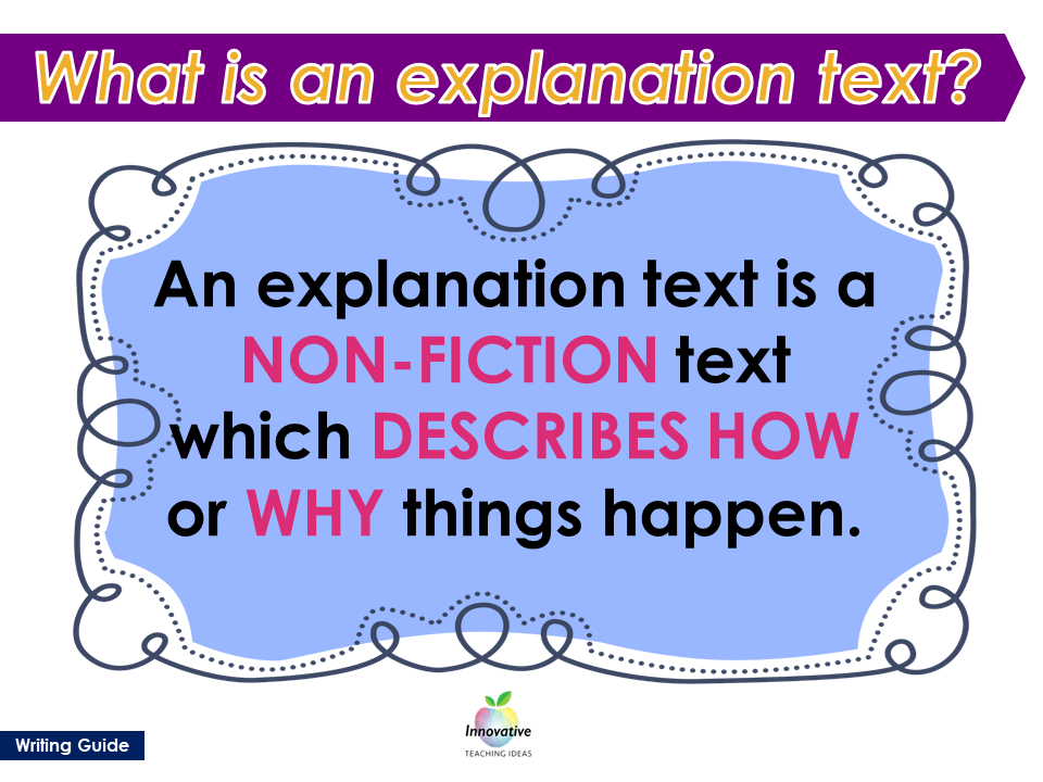 how to write an explanatory paragraph