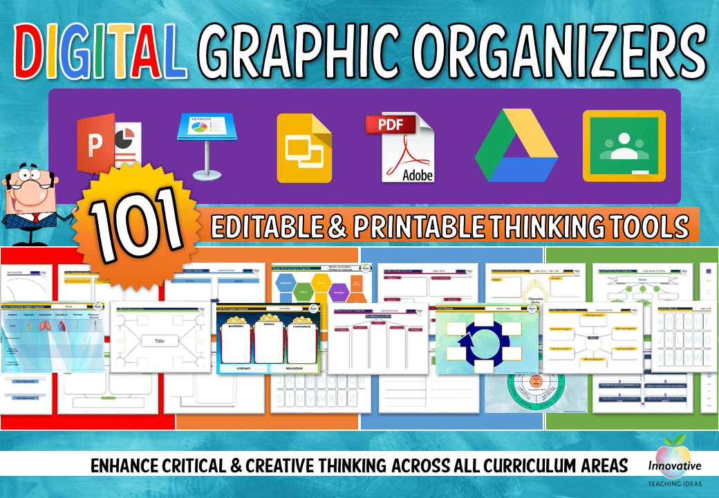 Digital Graphic Organizers For Students And Teachers Literacy Ideas