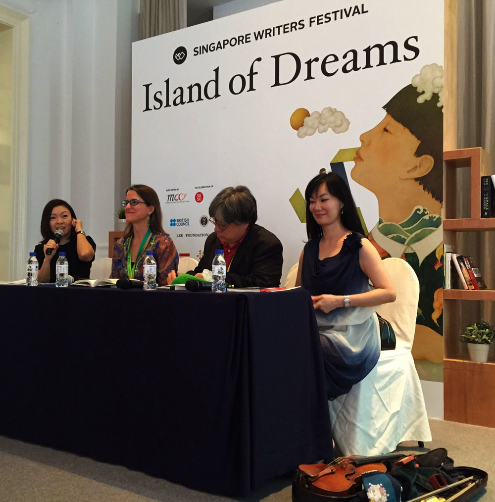Real to Print panel at Singapore Writers Festival