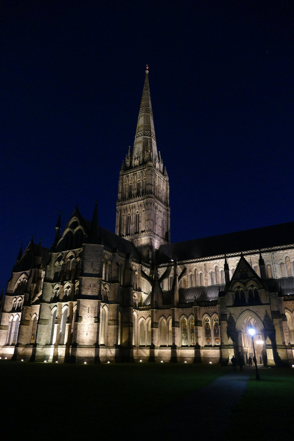The setting for the evening event – Salisbury Cathedral – was so dramatic, it deserves its own photograph.