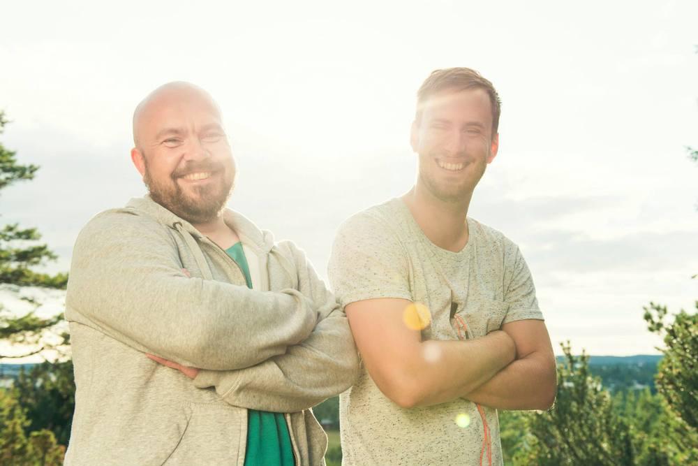 Härliga vänner och kollegor under sommarens inspelningar. Foto: Martin Eriksson