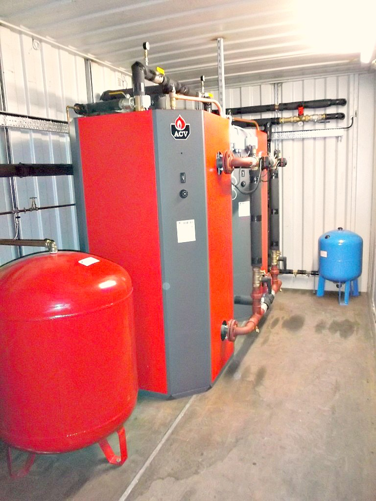 Part of a biomass boiler