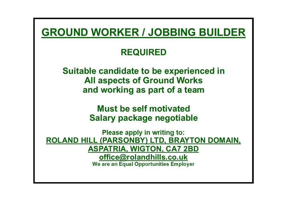 Advert - Ground Worker Jobbing Builder Nov 18.pub.jpg