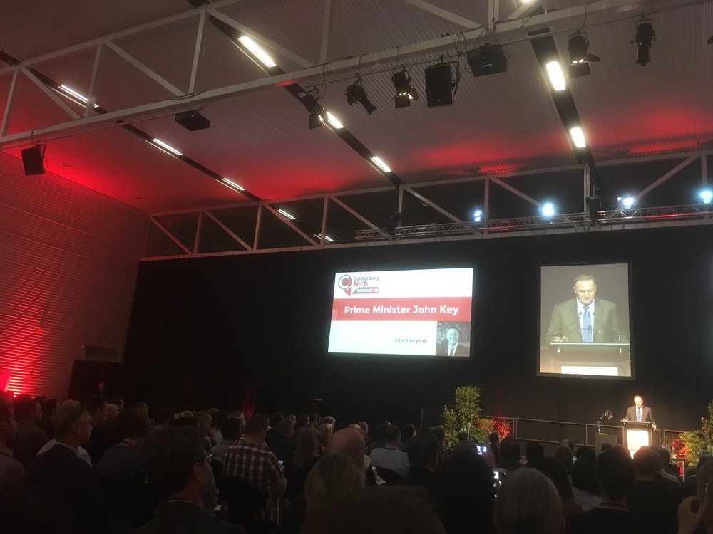 The 'Canterbury Tech Summit' IT conference opened with Prime Minister John Key photo by sunstone