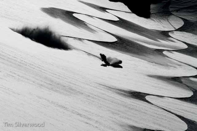 Snowboarding Powder in Gulmarg, Kashmir photo by Tim Silverwood