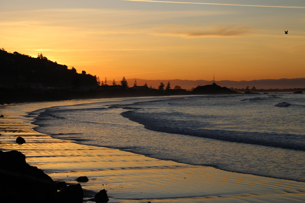 Sunset at sumner beach, Christchurch photo by Sunstone