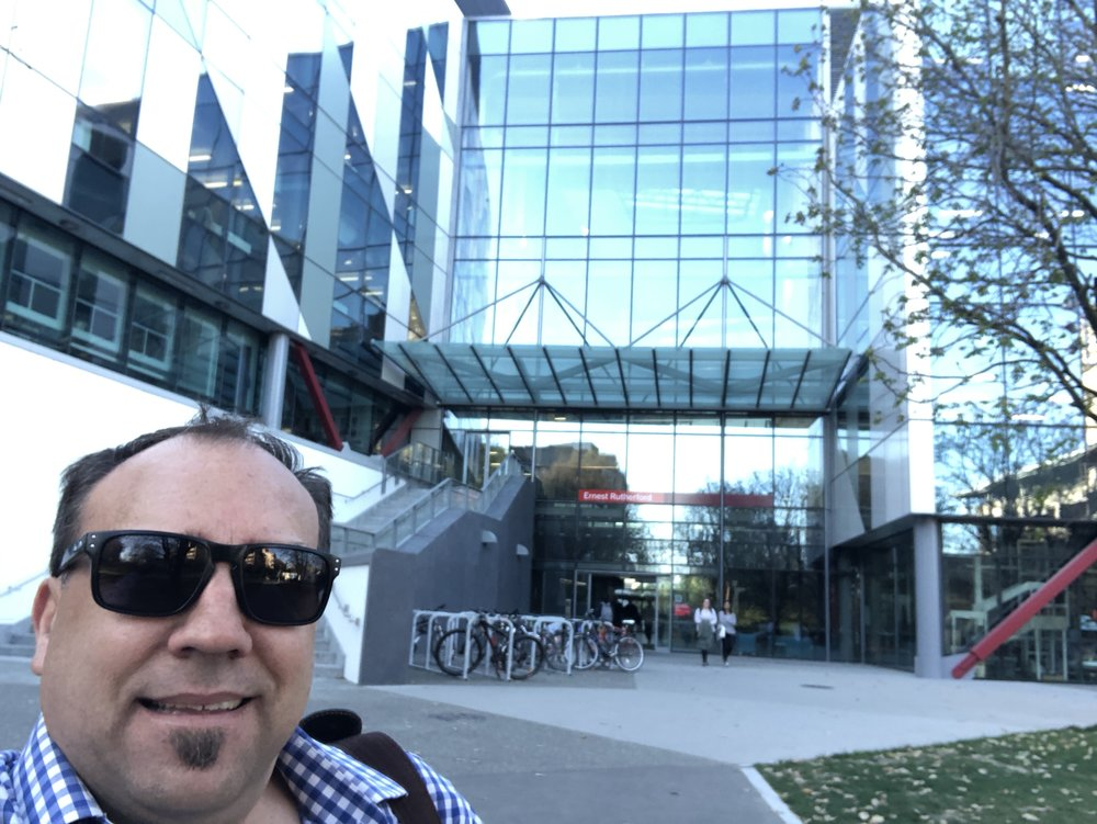 Honoured to be back at my old university again talking to CompSoc students in the new Ernest Rutherford building, University of Canterbury
