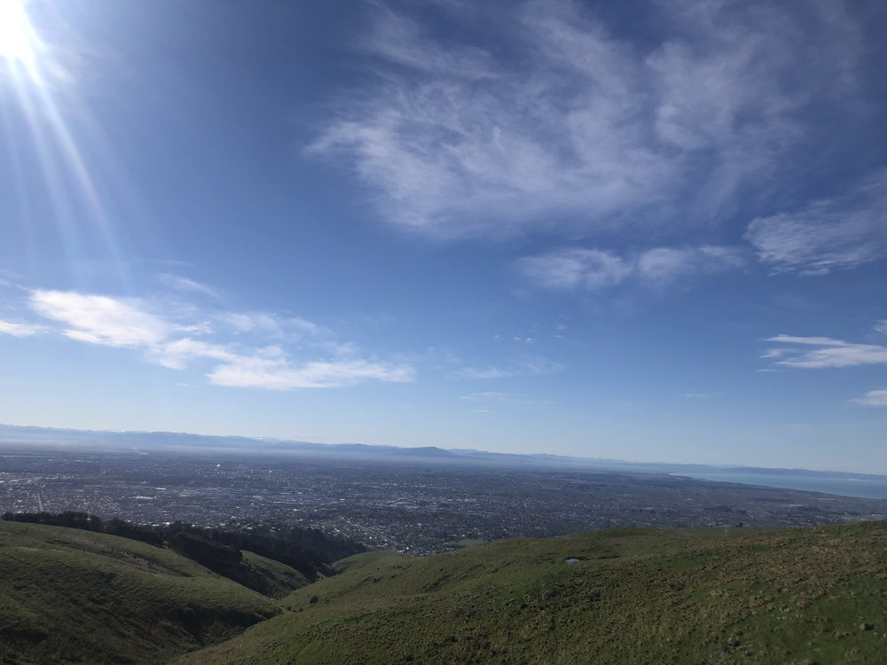 View over Christchurch to the Southern Alps from the Summit Road, Port Hills photo by Sunstone