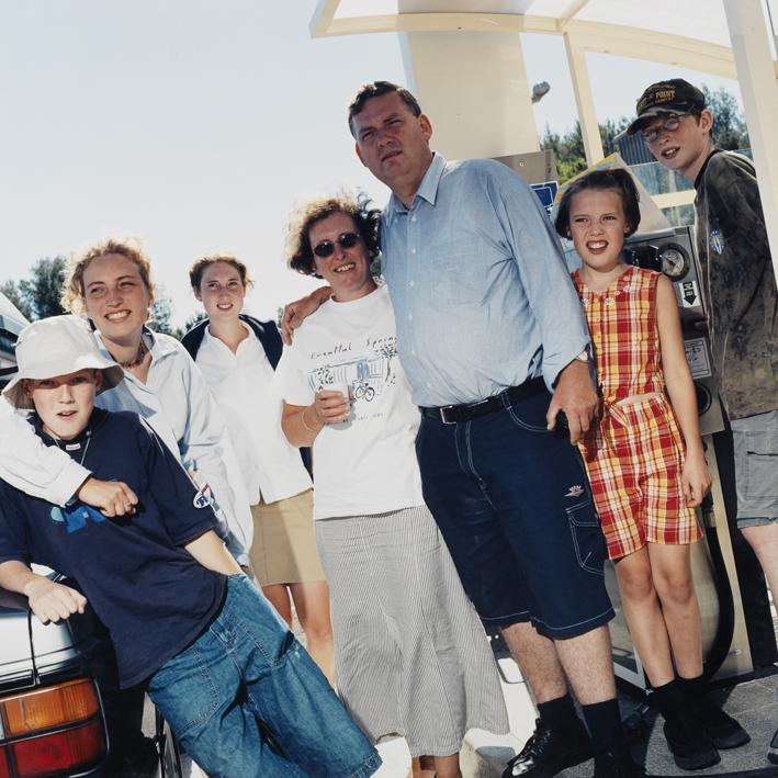 Holland family.   Area di servizio Bordighera Sud, autostrada A10 Genova-Ventimiglia .   July 2000