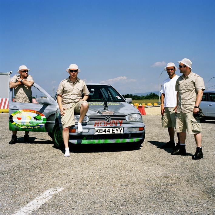 English group friends.   Area di servizio Rio Cocchi Ovest, autostrada A6 Torino-Savona .   August 2008